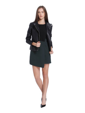 Black Wrap Mini Dress