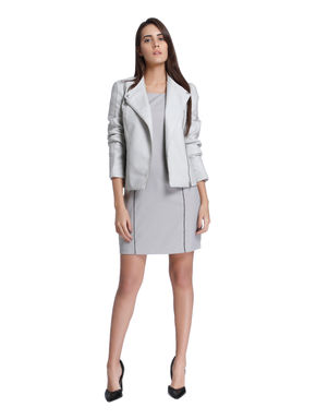 Light Grey Sheath Dress