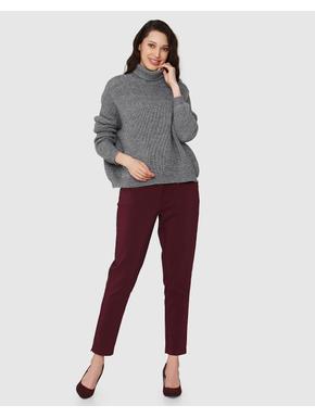 Grey Turtle Neck Sweater