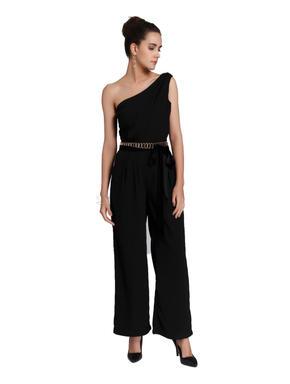 Black One Shoulder Jumpsuit