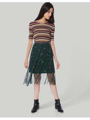 Multi-Coloured Striped Top