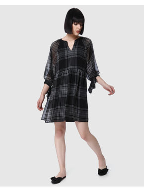Black Check Mini Dress