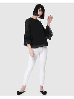 Black Tiered Sleeves Top