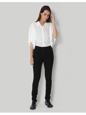 Black Mid Waist Slim Fit Jeans