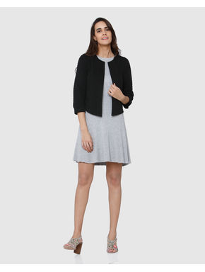 Black 3/4 Sleeves Blazer