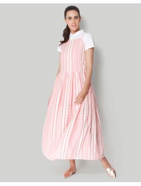 White Checks Midi Dress