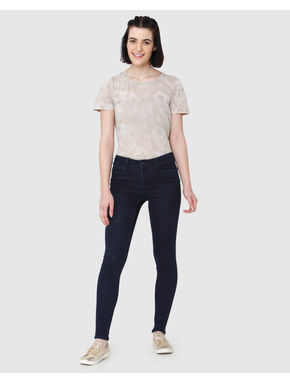 Dark Blue Mid Rise Shape Up Skinny Fit Jeans