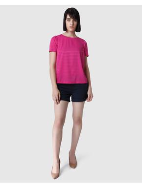 Dark Pink Self Design Top