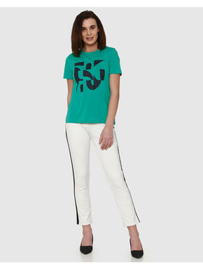 Green Graphic Print T-shirt