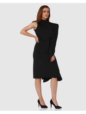 Black Flounce Bodycon Dress