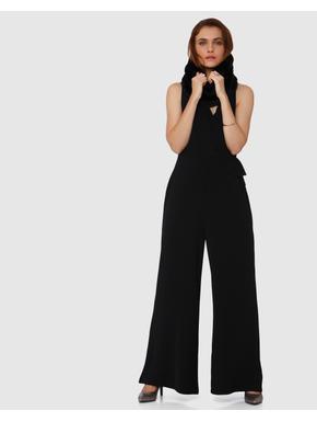 Black Strappy Wrap Jumpsuit