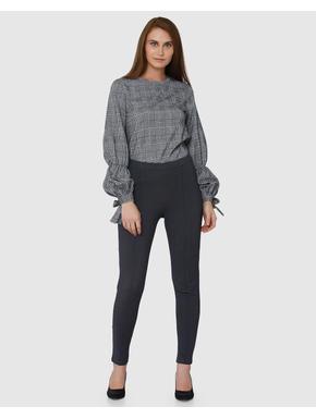 Grey Regular Fit Leggings