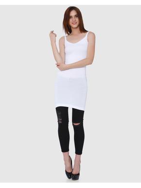 White Bodycon Long Singlet