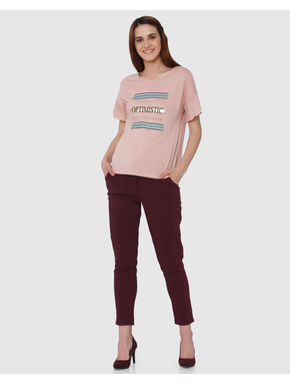 Rose Text Print T-shirt