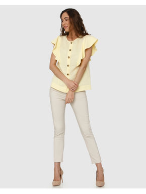 Yellow Flared Sleeves Shirt