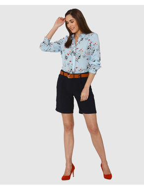 Blue All Over Floral Print Shirt