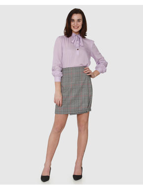 Lavender Tie-Up Neck Top