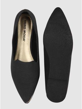 Black Shimmer Loafers