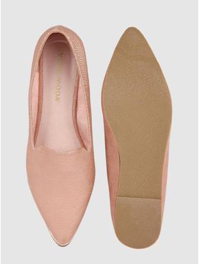 Beige Shimmer Loafers