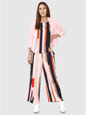 Pink Colour Blocked Top