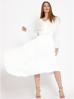 White Asymmetric Skirt