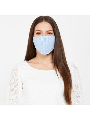 100% Cotton Resuable Adult Mask- Set of 3- Check Mate