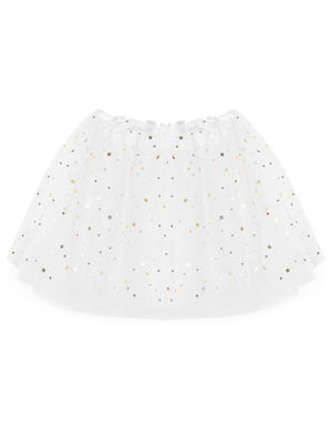 White Set of Hairband & Skirt