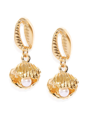Rose Gold Quirky Drop Earrings