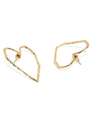 Gold-Toned Heart Shaped Studs