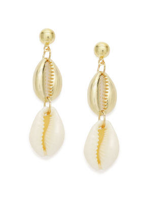 Gold-Toned Quirky Drop Earrings