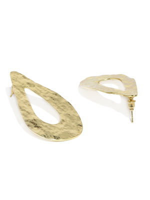 Gold-Toned Teardrop Shaped Studs