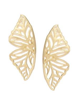 Gold-Toned Paisley Shaped Drop Earrings