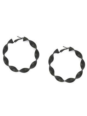Black Oval Hoop Earrings