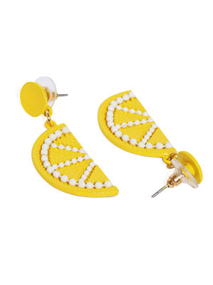 Yellow Quirky Drop Earrings