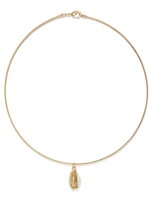 Women Gold-Toned Alloy Shell Necklace