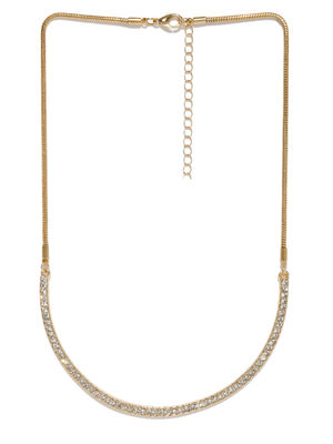 Women Gold-Toned Stone Studded Alloy Necklace