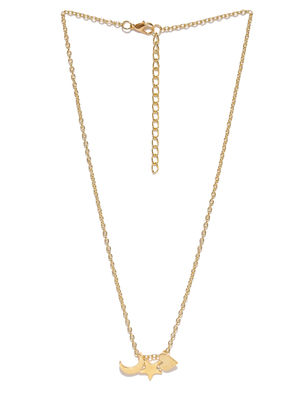 Women Gold-Toned Alloy Pendant With Chain
