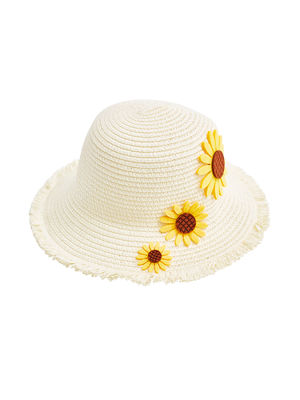 Pretty Sunflower Flower Hat For Girls