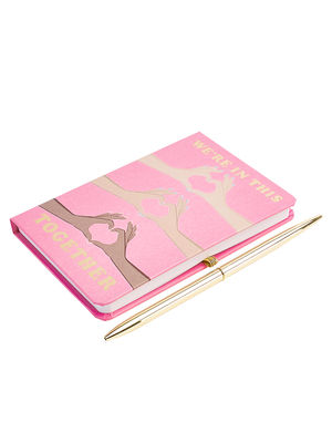 """Pretty Pink """"Together"""" Note Book"""