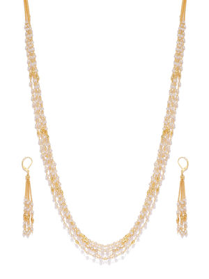 Women Gold-Toned Embellished Jewellery Set