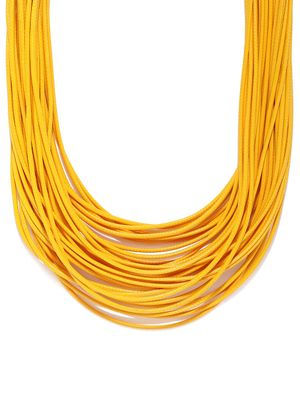 Mustard Yellow Layered Necklace For Women