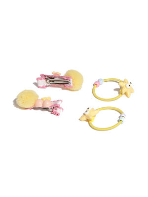 Set Of 4 Synthetic Hair Accessory