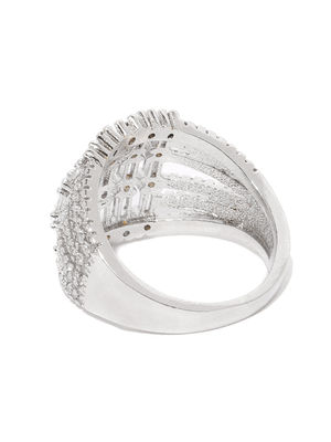 Multi Tier Silver Ring