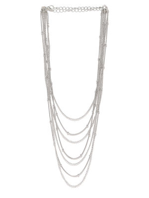Silver-Toned Layered Necklace