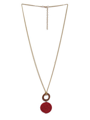 Maroon & Gold-Toned Metal Chain