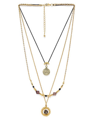 Gold-Toned & Black Necklace