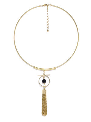 Gold-Toned Tasseled Necklace