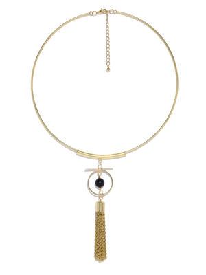 Gold-Toned Tasseled Necklace