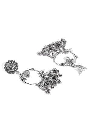 Silver Floral Crown Earring