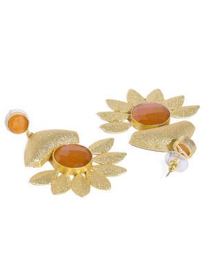Brown Holy Flower Earring